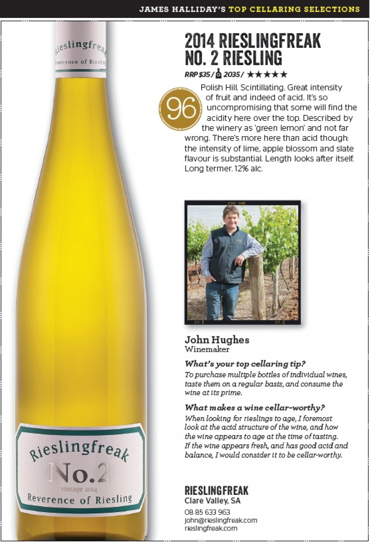JAMES HALLIDAY'S TOP CELLARING SELECTIONS